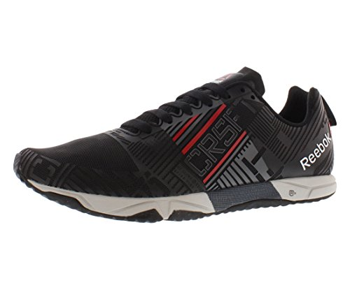Reebok Crossfit Sprint 2.0 Mens Training Shoe, Black / Excellent Red / Graphite / Steel, 10.5