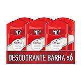 Old Spice Original Desodorante en Barra para Hombres 50 ml, Pack x 6