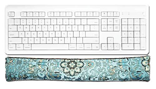 Candi Andi Handmade Keyboard Wrist Rest Pad - Flax Seed Fill - Lavender Scented - Blue Lagoon - TWRL-BL
