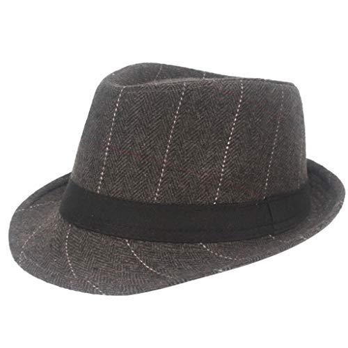 Bokeley Mens Fashion Cap Herringbone Newsboy Baker Boy Tweed Flat Cap Mens Gatsby Weaving Hat Personality Novelty Hippie Caps (Coffee)