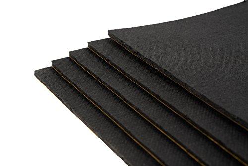 10 Stück Bitumenmatte, Antidröhnmatte, Bitumen-Dämmmatte Selbstklebend 500x200x3,6mm