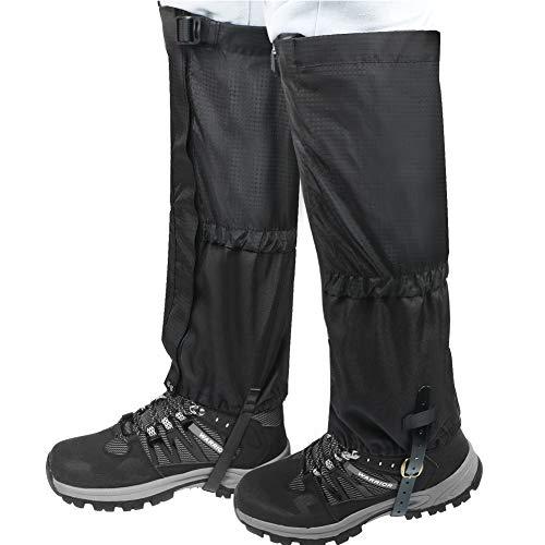 Scarpe da trekking Ghette Outdoor Equipment escursione impermeabile di sabbia del deserto alpinismo neve Set uomini e le donne di sci Imposta copertura del piede Leggings,Nero,M