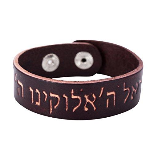 Star Of David Armband Wickelarmband Leder Frauen Manschette Hebräisch Zitate Armreifen Herren jüdische
