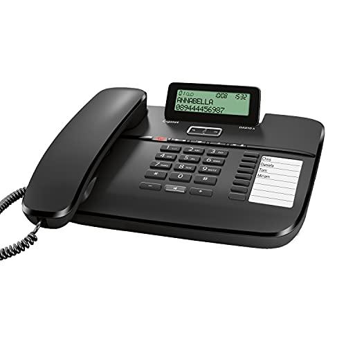 Gigaset DA810A - Schnurgeb&enes Handy mit Anrufbeantworter & Freisprechfunktion - klappbares Bildschirm - Anruferanzeige (CLIP) - lange Aufnahmezeit - Handybuch für 99 Kontakte, schwarz
