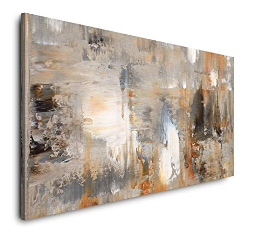 Paul Sinus Art Abstrakt 120x 60cm Panorama Leinwand Bild XXL Format Wandbilder Wohnzimmer Wohnung Deko Kunstdrucke