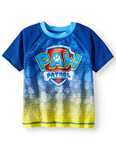 Paw Patrol Toddler Boys Blue Rash Guard - 3T