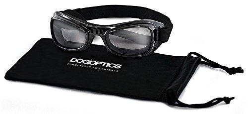 Dogoptics - Biker-Sonnenbrille für Hunde, Gestell schwarz/Glasverdunkelung 05, Größe S