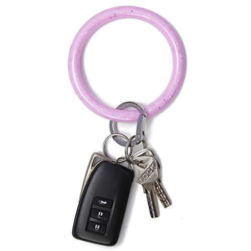 Townshine Armreif, Schlüsselanhänger, Handgelenk, Schlüsselanhänger, Armband, rund, Silikon, für Damen und Mädchen - -