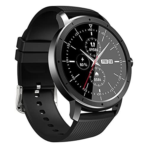 zyz The New HW21 Smart Watch para Hombres Y Mujeres 1.28 Pulgadas Pantalla Completa Impermeable Bluetooth Sleep Monitor Fitness Rasificación del Corazón Rastreador,Negro