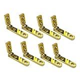 DOITOOL 8 pezzi cerniere scatola di gioielli a 90 gradi cerniere laterali binario scatola di legno cerniere cassa torace (dorato)