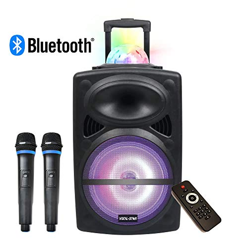 Portable PA Speaker System, Bluetooth, MP3, Disco Light Effects, 300w 12'...