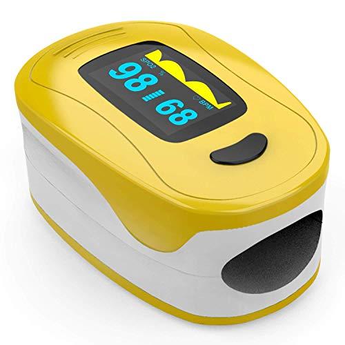 Zondan A3 - Pulsioxímetro de dedo - Oxímetro - Pulsioxímetro - Lectura inmediata de oxígeno, latidos y ondas de pulso - Dispositivo médico certificado CE 0123 ✅