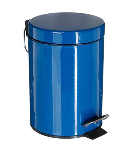 Cubo de basura metálico azul marino 3 l