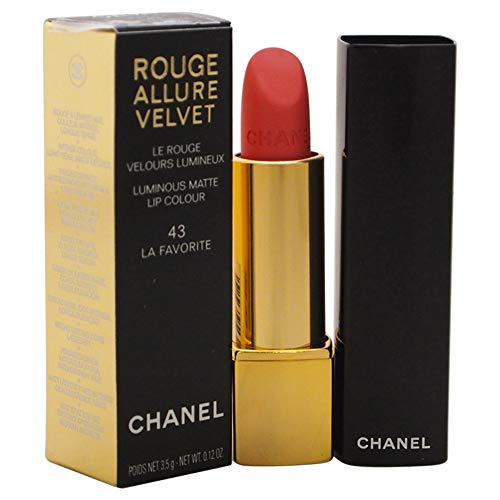Chanel Rouge Allure Velvet Luminous Matte Lip Colour, 43 La Favorite, 0.12 Ounce