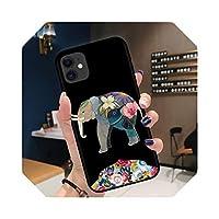 クールアニマルライオンウルフタイガーソフトシリコンケースFor iPhone12 Mini XR X XS 11 Pro Max 8 7 6 6SPlusかわいい猫の電話カバーCoque-Black-A2235-For iPhone XR