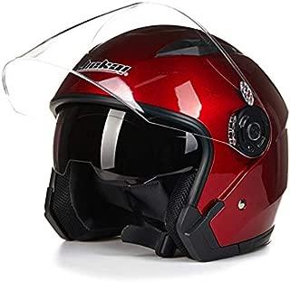Rojo NZI 050139G058 Single II Jr Red Casco de Moto Talla 50-51 S