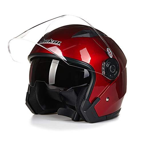 Ocamo Doble Objetivo Cara Capacete Abierto Casco de Moto