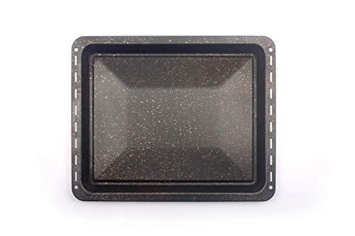 445 x 375 x 30 mm, antiadherente, bandeja de horno para Whirlpool Ignis Bauknecht Indesit 481010764532 (marrón dorado)