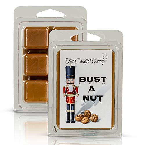 Bust A Nut - Banana Nut Bread Scented - Wickless, Funny Holiday Candle Melts for Dirty Santa Christmas, New Years -1 Pack - 2 Oz - 6 Cubes