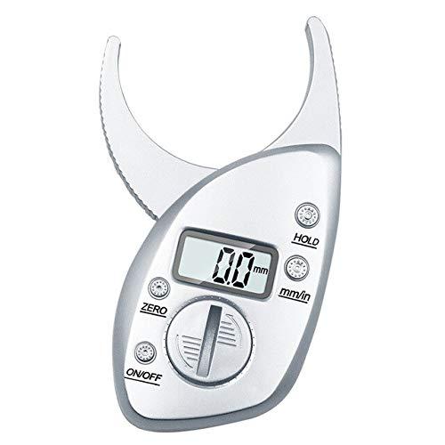 KANJJ-YU Monitores 0-50mm Grasa Corporal calibrador Digital electrónico del analizador de Grasa Corporal Caliper plicómetro Cuerpo del Monitor de Grasa Muscular de la Piel probador (Color : Silver)