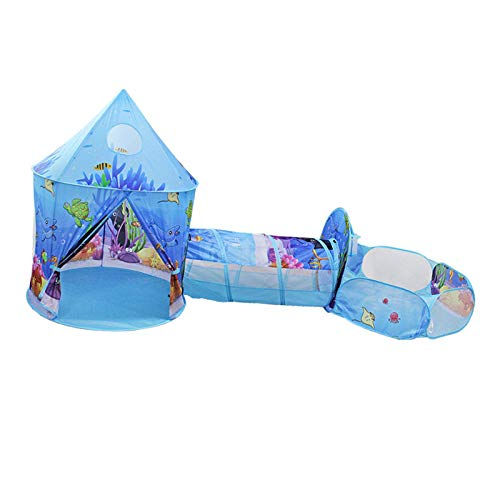 Tienda De Campaña Para Niños 3 En 1 Casa De Juegos Para Niños Ocean Playhouse Juguetes O Regalo Para Niñas/Niños De Interior Y Exterior