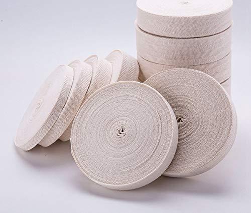 MoonyLI 22 Yard Cotton Twill Tape Ribbon Fischgrätenband Tape Cotton Gurtband Cotton Herringbone Belt Gurtband für Tasche Handmade Gurtband für Schnürsenkel Gurtband für Bag Handmade DIY Crafts