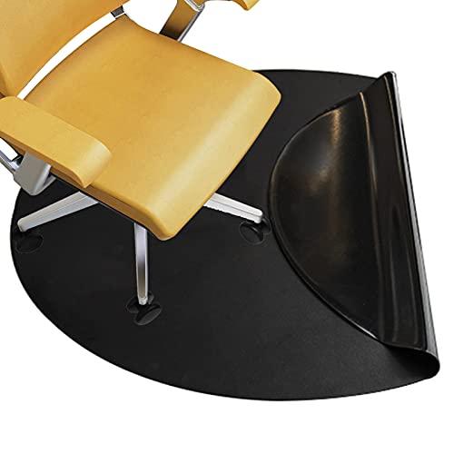 SWEAR Circle - Alfombrilla para silla para suelos de madera, piel sintética, protector de suelo para alfombras de pelo bajo medio y piso duro para silla de oficina (tamaño: 100 cm, color: negro)