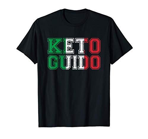 Keto Guido Italian Ketogenic Diet Italy Flag Gift For Guidos T-Shirt