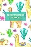 Blood pressure journal: Hypertension, Hypotension logbook. Blood pressure record book, diary. Portable. (Llama pattern. Paperback matte cover).
