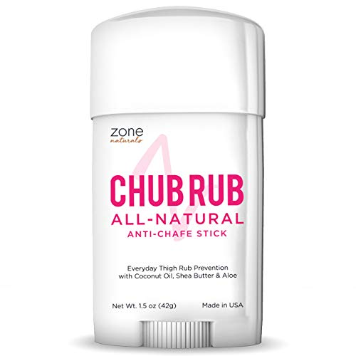 MedZone Chub Rub for Her Anti Chafe Stick - Anti Chaffing Stick for Thigh Chaffing Protection - All Natural Anti Chafing Stick by Zone Naturals 1.5oz