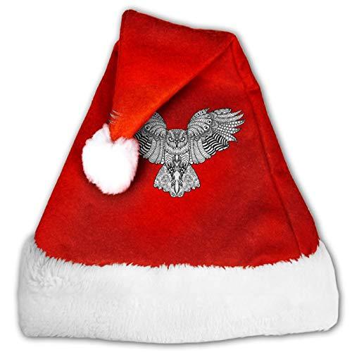Gorro de Pap Noel unisex con diseo de calavera, color rojo y blanco