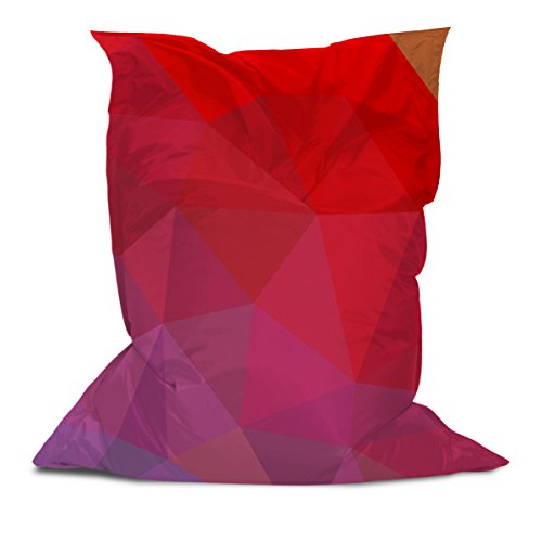 AAA Best Soft Cozy Comfortable Pillow Bean Bag Chair Lounger for Adults Kids Teens with Printed Triangle Stripes (1) (3' x 4.4')