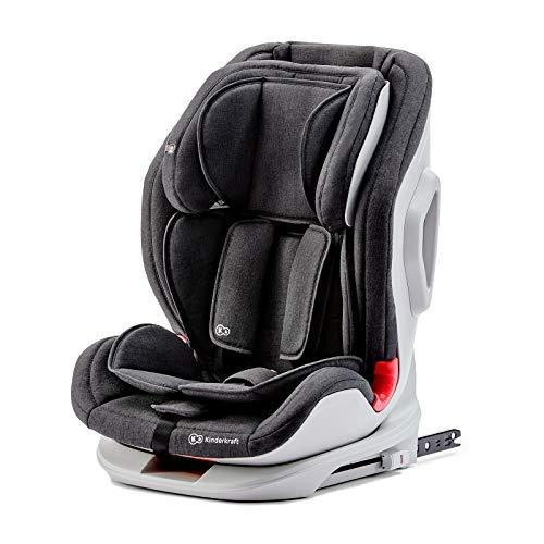 Kinderkraft Kinderautositz ONETO3, Autokindersitz, Autositz, Kindersitz mit Isofix und Top Tether, Gruppe 1/2/3 9-36kg, Side Protection System, 5-Punkt-Sicherheitsgurt, ECE R44/04, Schwarz