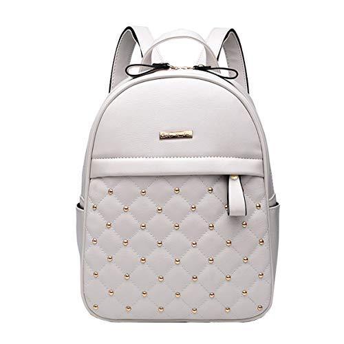 NIYUTA Donna Borse a zainetto viaggio moda casual scuola Borse a spalla marca zaino IT129 Bianco Perla