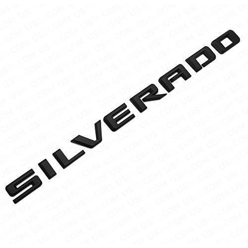 US85 Direct for Chevy Chevrolet 2019-2021 Silverado 1500 2500 3500 HD 6.2L Left or Right Side Fender Letter Logo Emblem Badge Nameplate Sport Z71 LT LTZ (Matte Black)