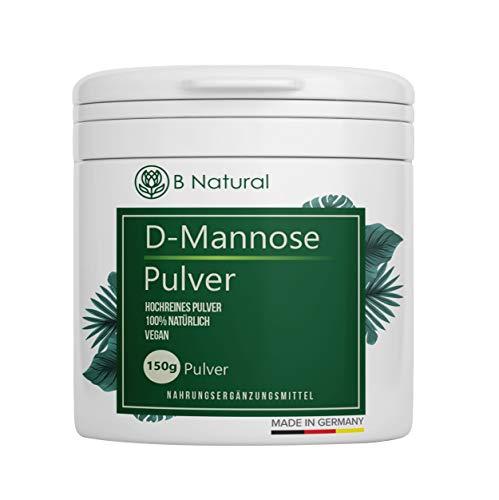 D Mannose Pulver 150g - Rein & naturbelassen Ohne Zusätze –Vorrat für 2,5 Monate Laborgerpüft – Vegan – Messlöffel enthalten