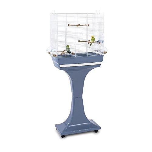 Imac 5-03763 - Jaula para pájaros con pie camilla, 50 x 30 x 57/129 cm, color azul y blanco