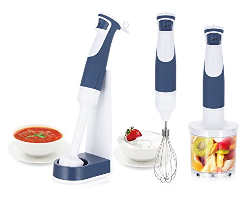 Emerio Stabmixer-Set, inkl. Aufsteller, BPA frei, Swiss Design, 1-Finger-Speed-Control, Hochleistungs DC-Motor, 500 Watt, HB-114250.2