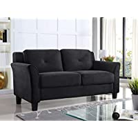 Lifestyle Solutions Harrington Loveseat With Curved Arm