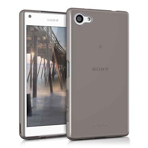 kwmobile Funda Compatible con Sony Xperia Z5 Compact - Carcasa de TPU para móvil - Cover Trasero en Negro