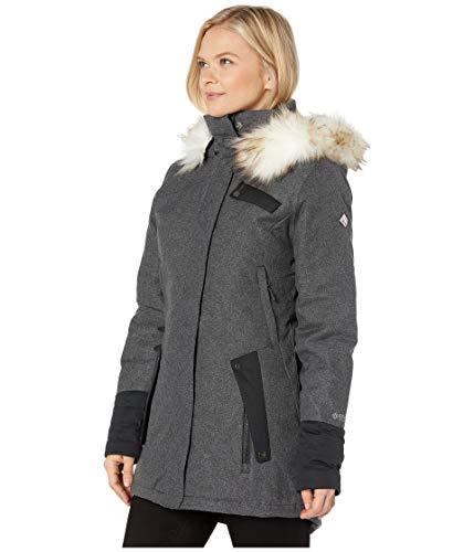 Spyder Women's Metro Gore-Tex Infinium Down Parka – Ladies Full-Zip Hooded Winter Jacket, Large, BLACK