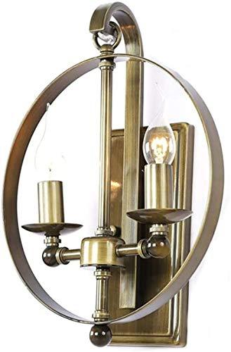 Lámparas de pared industriales, 2 de la vendimia Llamas apliques de la pared anular creativo diseño rústico estilo apliques de metal Linternas colgantes Lámparas Iluminación interior latón / bronceado