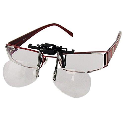 Flip&Focus Lupe in Brillenform | Lesehilfe | Sehhilfe | Lesebrille | Brillenlupe | Brillen-Zubehör