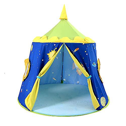 WZXX Infantil portátiles Tienda al Aire Libre, Fuerte y Robusto Plegable Inicio Kinderzelt Espacio al Aire Libre Juegos Casa de Playa de Interior Regalos de cumpleaños del jardín,Azul