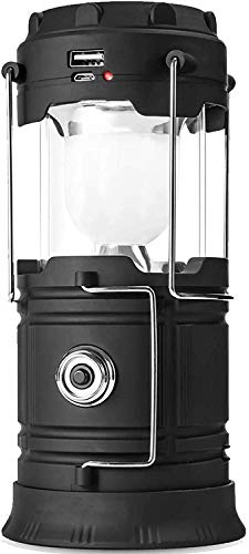 Duyifan Solar Lantern Flashlights,Led Camping Lantern Rechargeable, Charging for Phone, USB Rechargeable Camping Lantern Led, Collapsible & Portable for Emergency,for Daily/Camp/Hiking