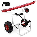 wolketon Carro plegable para kayak, canoa, carro de transporte para barco, con correas tensoras SUP, de aluminio, para canoa, surf, lancha plegable