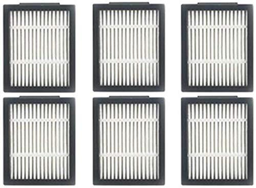 Kit d'accessoires 10 brosses latérales pour iRobot Roomba 500 600 700 Series 550 560 630 650 760 Pièces de rechange (couleur : 6 filtres)