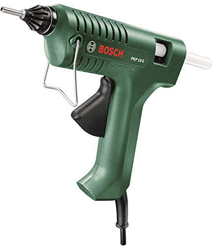 Pistolet à colle Bosch - PKP 18 E, 100V-240V-50/60Hz 16W (200W), (Livré avec 1 buse extra longue + 1 bâtonnet de colle)