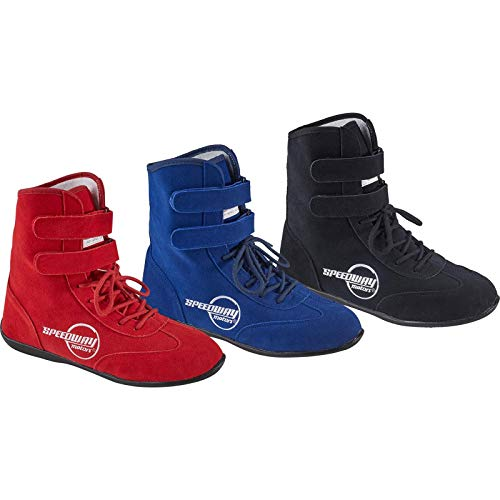Red Hightop Racing Shoes, 11, SFI 3.3/5, Flexible Leather