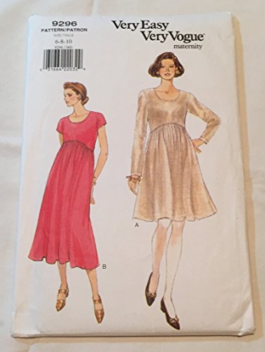 Vogue Very Easy Very Pattern 9296 Misses' Maternity Dress, Size 6-8-10